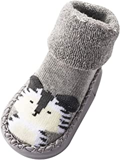 Baoblaze 3 Pairs of Baby Newborn Infant Socks Anti Slip Floor Slipper Sock