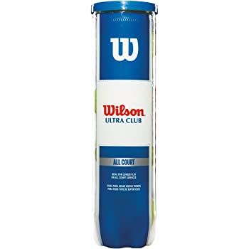 Wilson Tennisbälle, Ultra Club All Court, für alle Bodenbeläge, Dose mit 4 Bällen, WRT116000