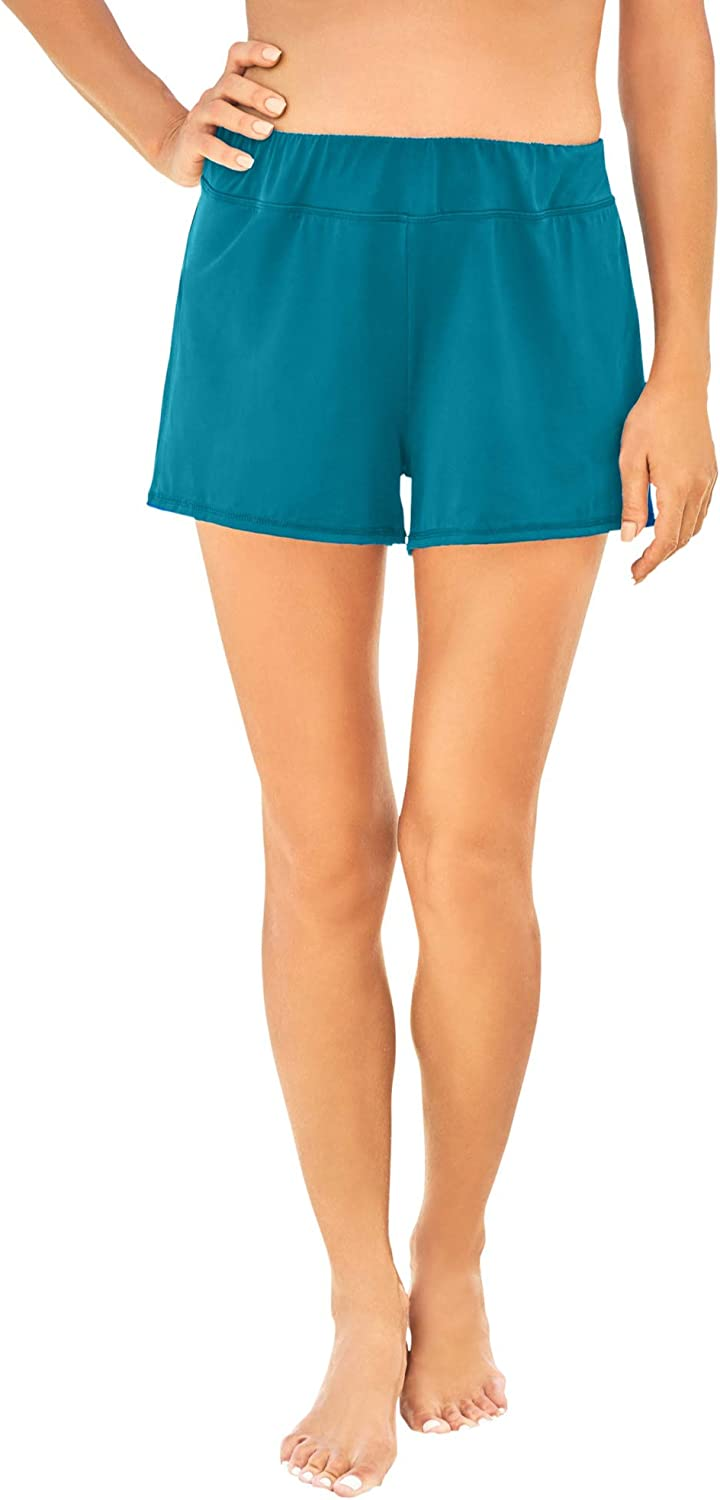 Swimsuits For All Women's Plus Size Wide-Band Swim Short Swimsuit Bottoms