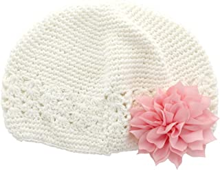 crochet flower for baby beanie