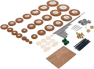MagiDeal Alto Saxophone Repair Reeds Needles Screws Cork Sheet Leather Pads Key Buttons Wind Instrument Parts