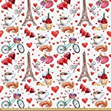 ABAKUHAUS Romantisch Stoff als Meterware, Paris