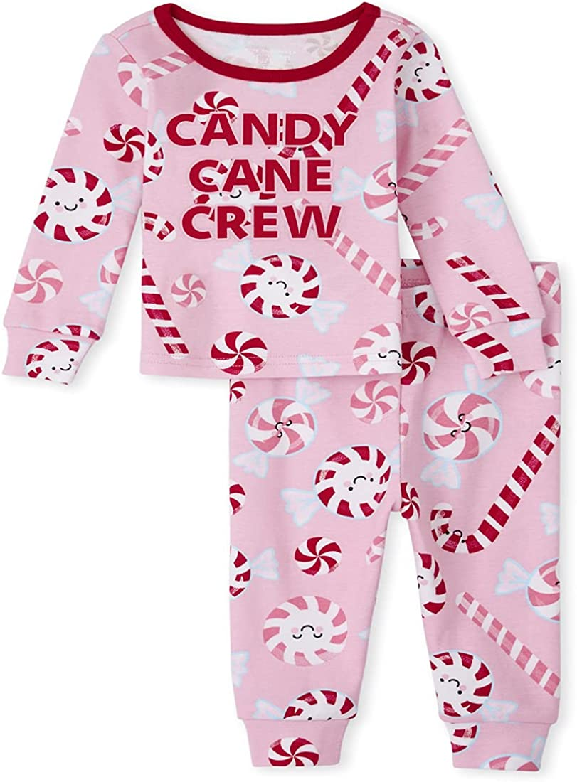 The Children's Place unisex-baby And Toddler Holiday 2 Piece Snug Fit Cotton Pajamas