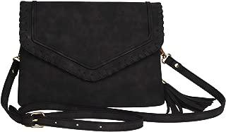 Best black leather fringe crossbody bag Reviews