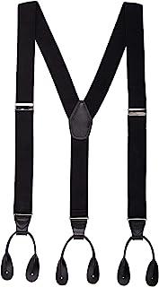"""Mens Button End Suspenders 49"""" Y-Back Adjustable Elastic Tuxedo Suspenders by Grade Code"""