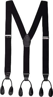 Mens Button End Suspenders 49 Inch Y-Back Adjustable Elastic Tuxedo Suspenders by Grade Code