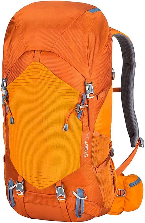 Hiking Backpack, 35L Waterproof Travel Backpack Trekking Rucksack Mountaineering Camping Backpack with Rain Cover for Men Women Outdoor Sport,orange