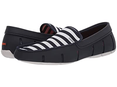 SWIMS Striped Venetian Loafer (Navy/White) Men