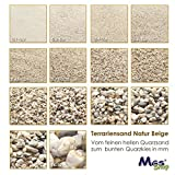 Terrariensand NATUR BEIGE weich & rund geprüfte Qualität 0,3-0,6 mm - 3