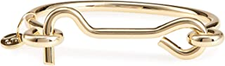 Locked Up Gold Cuff Bracelet for Women or Girls: 14K Gold Plated Stylish Cuff Bracelet Features a Sleek Design and a Toggle Lock Closure for an Edgy Look All Your Own.