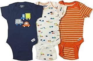 Gerber Boys 3-Pack Onesies Brand Short Sleeve Bodysuits