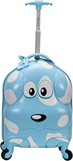 Rockland My First Luggage Polycarbonate Hardside Spinner, Puppy (Blue) - B02-PUPPY