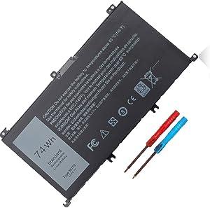 74WH Type 357F9 71JF4 Battery for Dell 15 7000 7559 i7559 7557 i7557 7567 7566 7759 15 5576 5577 i5577 7559 i7559-2512blk i7559-5012gry Series 0GFJ6 P57F P65F 071JF4 11.1V Li-ion Battery