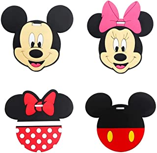 Mickey Mouse Travel Luggage Tag for Bags with Adjustable Strap - Set of 4