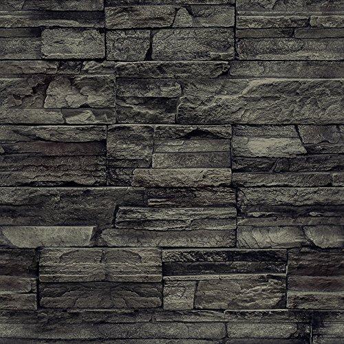 murando Vlies Tapete Deko Panel Fototapete Wanddeko 10 m Tapetenrolle Mustertapete Wandtapete modern design Dekoration - Steinwand Steinoptik Ziegelmauer f-A-0173-j-c