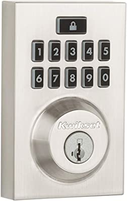 Kwikset 99130-008 Smartcode 913 Contemporary Electronic Deadbolt Featuring Smartkey In Satin Nickel