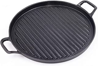 Cast Iron Barbecue Tray, Round Ears, Vertical Grill, Commercial Grill Cooker, 1 Steak
