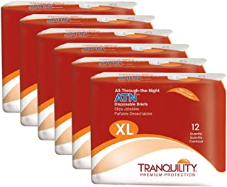 Tranquility ATN Adult Disposable Briefs with All-Through-The-Night Protection - XL (56