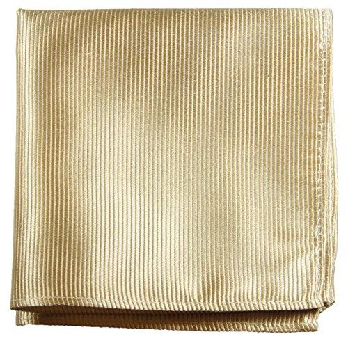 Paul Malone de carré de poche mouchoir 100% soie Or uni