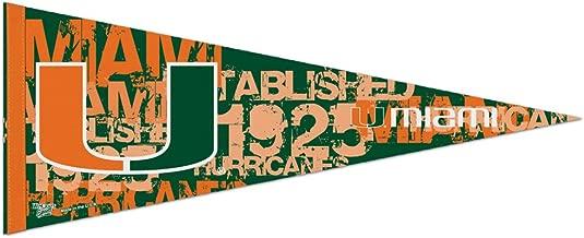Miami Hurricanes Premium Pennant Stencil Art Edition est 1925 12 x 30 inches