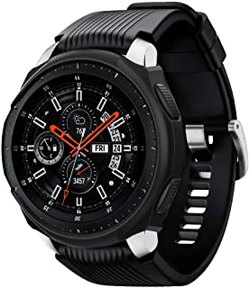 Spigen Liquid Air Armor Designed for Samsung Galaxy Watch Case 46mm (2018) / Designed for Samsung Gear S3 Frontier Case (2017) / Smartwatch Case - Black