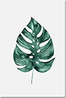 Canvas Poster Prints Nordic Tropical Leaves Canvas Painting Minimalist Golden Letter Wall Art Monstera Posters Prints Wall Pictures for Living Room,20X25Cm No Frame,02