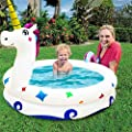 "TURNMEON Kiddie Pool, Unicorn Inflatable Pool for Kids Toddlers Baby Infant Indoor Outdoor Garden Backyard Summer Water Party Games Blow Up Swimming Pool Inflatable Lounge Pit Ball Pool(59""x 47""x10"")"