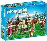 Playmobil Vida en la Montaña - Pastores alpinos con Animales, Juguete Educativo, Multicolor, 25 x 5 x 20 cm, (5425)