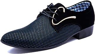 10a0941d Poplover Hombre Zapatos con Cordones Zapatos de Vestido de Cuerdo para  Necogio Boda 38-48