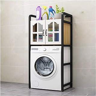 KOKOF Étagère de rangement au sol multicouche pour salle de bain, toilettes, balcon, machine à laver, salle de bain, étagè...
