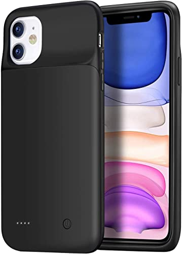 Wixann Battery case for iPhone 11, 4500mAh Slim Portable Charger Case Protective Rechargeable Battery Pack Charging C...