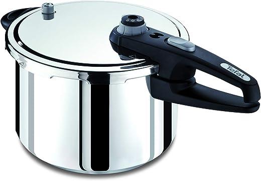 TEFAL Sensor® Induction 8 Litre Pressure Cooker Pot, Stainless Steel, P2051444