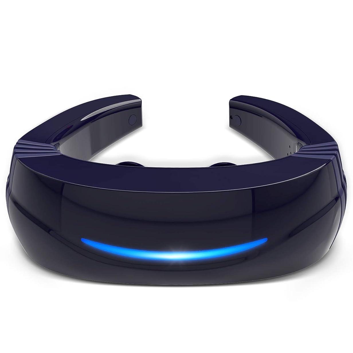 チャネル保証着替えるHipoo ネックマッサージャー 首マッサージ 低周波 マッサージ器 ストレス解消 USB充電式 日本語説明書 電極パッド2つ付き 音声式