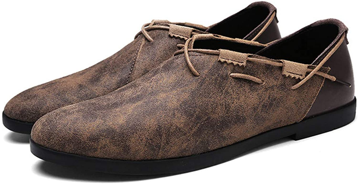 Phil Betty Mens Casual shoes Breathable Wear-Resistant Flat Loafers shoes