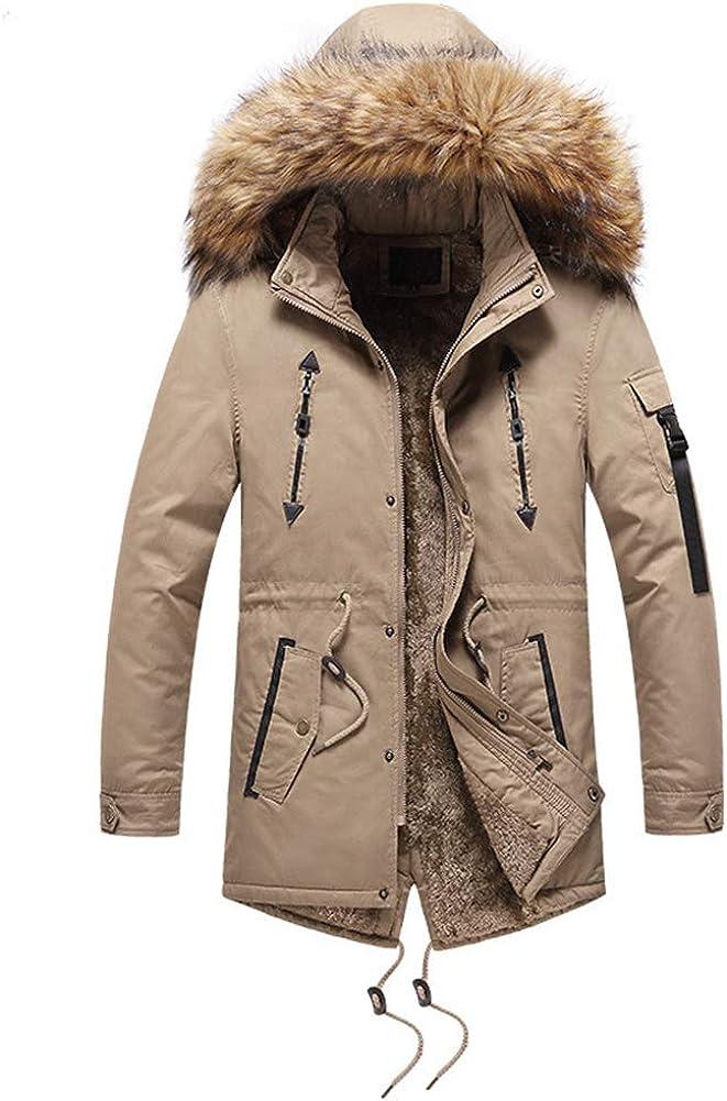 chouyatou Men's Thicken Sherpa Lined Winter Parka Coat Faux Fur Hooded Jacket