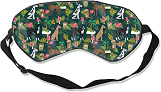 Great Dane Dog Tiki Tropical Tiki Tiki Design, Cut Sleep Mask Pack Men and Women Or Children Eye Mask No Pressure Eye Masks for Sleep & Travel
