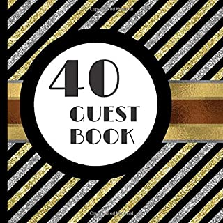 Guest Book: Black, Gold and Silver Party Guest Book Includes Gift Tracker and Picture Memory Section to Create a Lasting F...