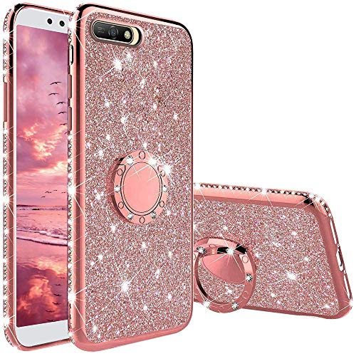 Compatibile con Cover Huawei Y6 2018 / Honor 7A, Glitter Lus