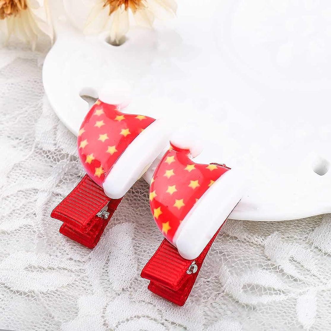 Fstrend Fashion Christmas Hair Clips Festival Hair Accessories Hair Pins for Children (Set of 2) (White) yejrldaf1