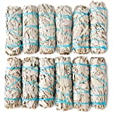 White Sage Smudge Sticks 4' Inch Smudging Wands | Smudge Kit White Sage Incense Sticks for Cleansing… (12 Pack)