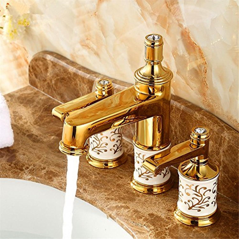 NewBorn Faucet Wasserhhne Warmes und Kaltes Wasser Guter Qualitt Das Kupfer kalt Wasser Wasser Gold 3-Teiliges Set Tippen