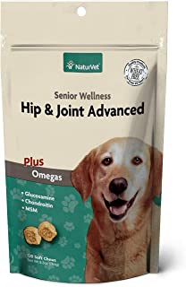NaturVet – Senior Wellness Hip & Joint Advanced Plus Omegas – Help Support Your Pet's Healthy Hip & Joint Function – Suppo...