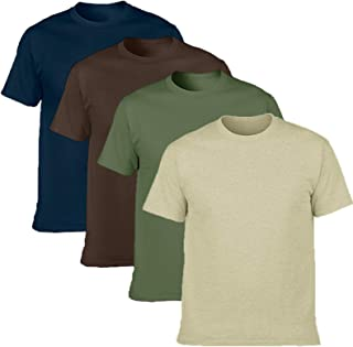 Men's Classic Basic Solid Ultra Soft Cotton T-Shirt 4 Pack