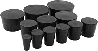 12 Pack - CleverDelights Solid Rubber Stoppers - Mix Pack | Sizes 000 to 10 | 1 Each Per Size