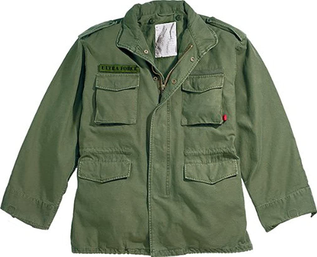 VINTAGE M-65 Raleigh Mall FIELD JACKET w OLIVE Small - Ranking TOP19 LINER DRAB