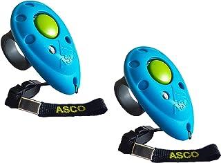 ASCO 2X Clicker Professionnel pour Doigt, Entraînement Dressage pour Chiens Chats Chevaux, 2 pièces Finger Clicker de Form...