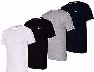 comprar comparacion NIKE Embroidered Swoosh - Camiseta de Mangas Cortas para Hombre
