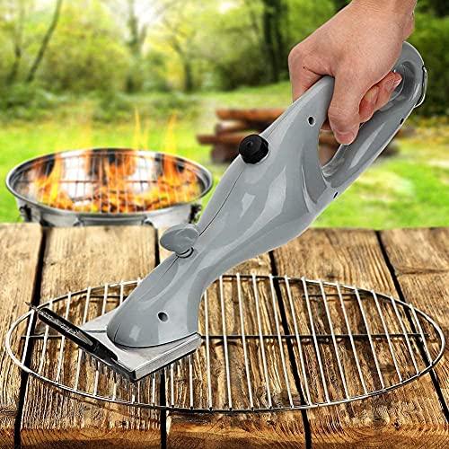 ZHIRCEKE DIY Grillreinigungsbürste, Grill 100% rostfreier Stahl Dampf Sicher Borste Kostenlose BBQ Grillreiniger für Gas/Rauch/Infrarot-Grill/Charcoal/Porzellan/Propan