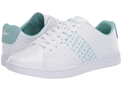 Lacoste Carnaby Evo 120 3 (White/Green) Women