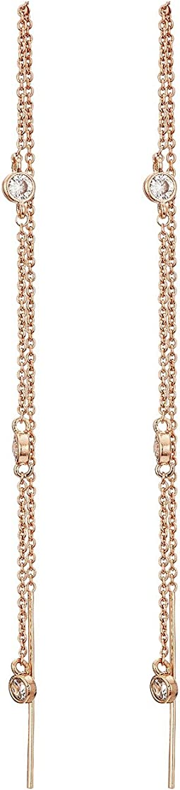 LAUREN Ralph Lauren - Channel Crystals Threader Earrings